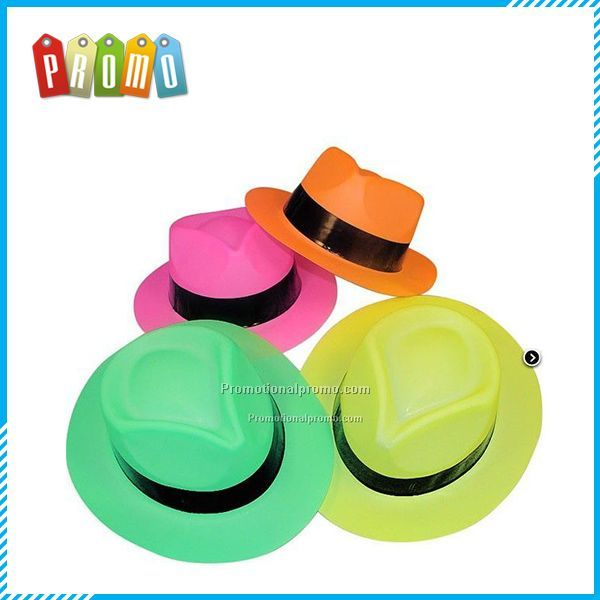 Plastic Solid Color Gentry Hats