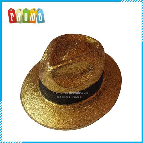 Gentry Gold Glitter Hats