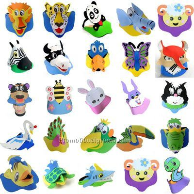 Cute Foam EVA Animal Visor Sun Hat EVA Hat