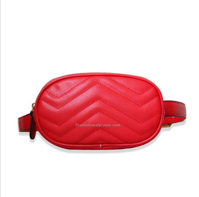 High Quality Red PU waist bag on stock for sale