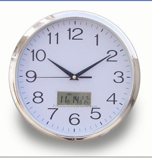 Plastic wall clock with calender