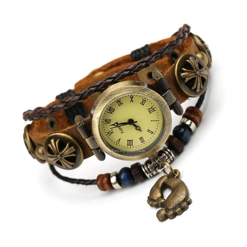 Hot Sale Genuine Cow Leather Classic Bracelet Watch