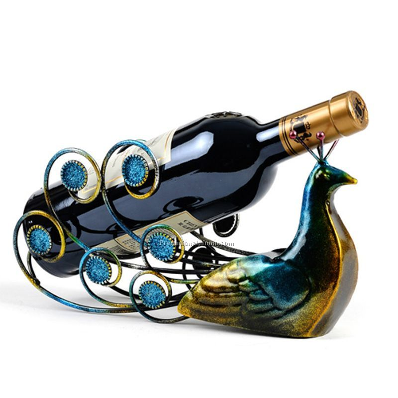 Creative metal wine holder