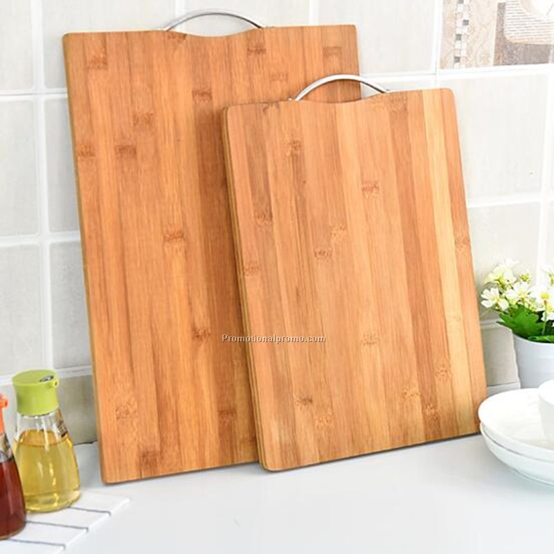 New thick antibacterial chopping rectangular natural bamboo board with hook