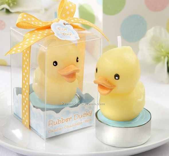 Yellow Duck Candle