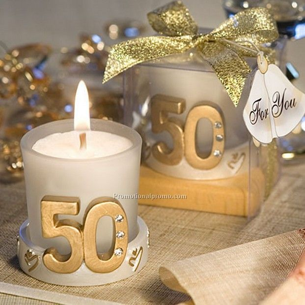 50th Birthday Candle Holder