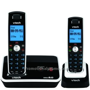 DECT 6.0 Expandable Two Handset Cordless Phone System