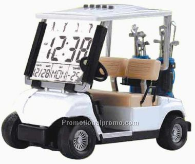 Golf Cart Clock 38432Green Cart