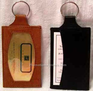 ID Holder & Card Holder / Key Ring / Stonewash Cowhide