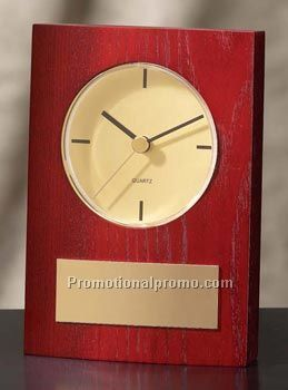Mahogany Finish Desk Clock 3.75