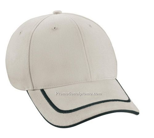 NORTH END DELUXE HEAVY BRUSHED TWILL CAP WITH EMBROIDERED 3D SANDWICH VISOR
