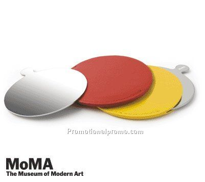 MoMA Stainless Steel Mirror ROUND, YELLOW