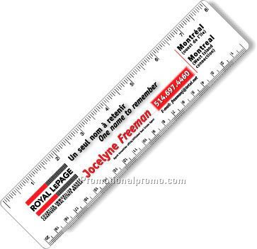 ".040 White Matte Styrene Plastic 8"" Rulers / with round corners"