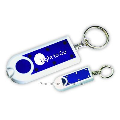 2-Tone Keychain Light - Blue