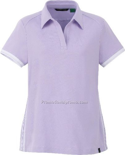 NEW LADIES37408ORGANIC COTTON/SPANDEX JERSEY POLO