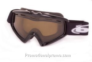 Ski Goggle, X9 OTG - Shiny Black Frame with Polarized Brown Lens
