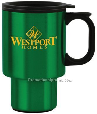Steel City Color Travel Mugs - 16 oz. Green