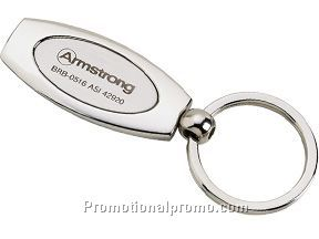 Two-tone oval key tag