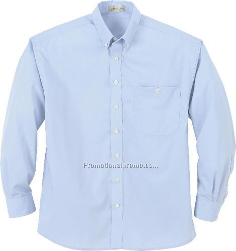 MEN37459 WRINKLE RESISTANT POPLIN BUTTON-DOWN LONG SLEEVE SHIRT ...