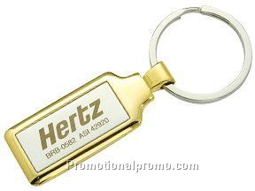 Metal satin-mirror key tag