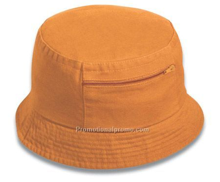 garment washed cotton twill bucket hat   zip pocket China Wholesale ... d93c8b39bbd