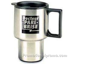 Car stainless steel insulated mug - 16 oz.