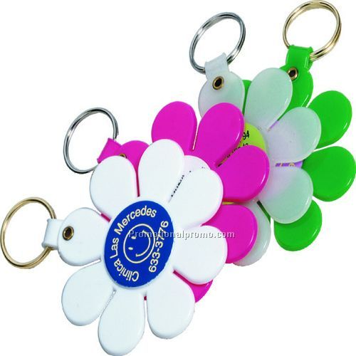 CHEAP PVC DAISY KEY TAG