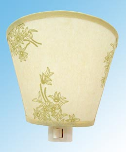 Nightlight With Fabric Shade Lamp