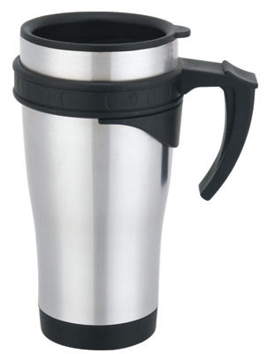 Stainless Steel and Stainless Steel Auto Mug