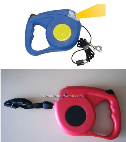 Dog leash with torch