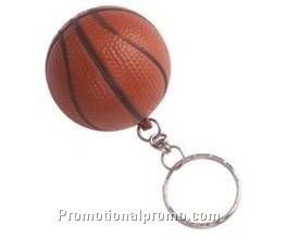 Basketball pu stress keychain