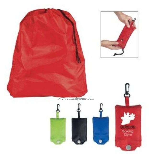 Foldable laundry bag with pouch